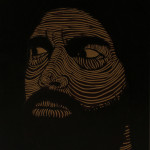 man woodcarving 30x40