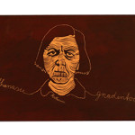 Vergangenis woodcarving 115x35cm
